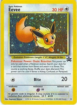 Pokemon Promo Single Eevee 11 WOTC Promo - SLIGHT PLAY (SP)