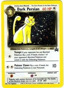 Pokemon Promo Single Dark Persian 17 WOTC Promo