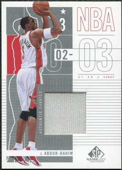2002/03 Upper Deck SP Game Used Shareef Abdur-Rahim JSY #1