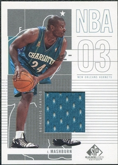 2002/03 Upper Deck SP Game Used #8 Jamal Mashburn Jersey