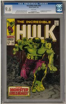 Incredible Hulk #105 CGC 9.6 (W) *1107047015*