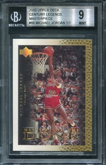 2000 Upper Deck Century Legends Gold #66 Michael Jordan 1/1 BGS 9 Mint *1735