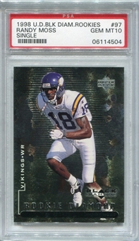 1998 Black Diamond Rookies #97 Randy Moss RC PSA 10 Gem Mint *4504