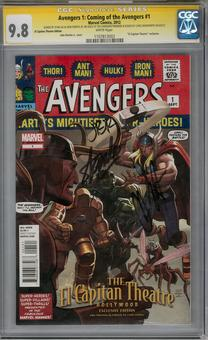 Avengers 1: Coming of the Avengers #1 CGC 9.8 (W) Stan Lee Chris Hemswoth John Romita Jr. Signature Series