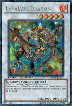 Yu-Gi-Oh Duel Terminal 5 Single Lavalval Dragon Ultra Rare DT05