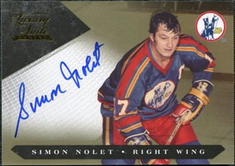 2010/11 Panini Luxury Suite Gold #116 Simon Nolet Autograph /10