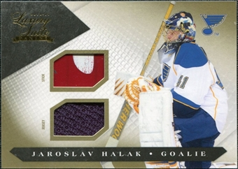 2010/11 Panini Luxury Suite Jerseys Sticks Gold #62 Jaroslav Halak /10