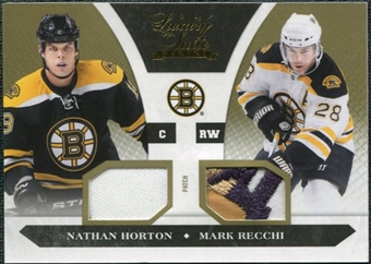2010/11 Panini Luxury Suite Prime Patches Gold #78 Mark Recchi Nathan Horton 10/10