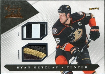 2010/11 Panini Luxury Suite Jersey Numbers Sticks #1 Ryan Getzlaf /50