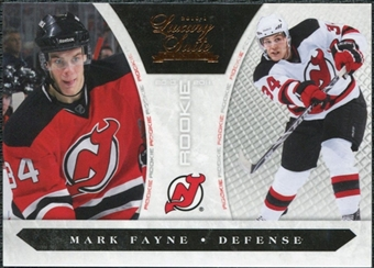 2010/11 Panini Luxury Suite #206 Mark Fayne /899