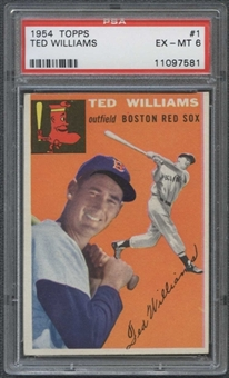 1954 Topps Baseball #1 Ted Williams PSA 6 (EX-MT) *7581