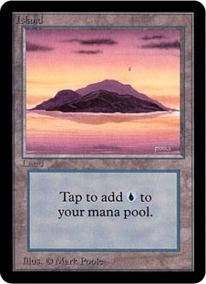 Magic the Gathering Alpha Single Island (Ver 1) - NEAR MINT (NM)