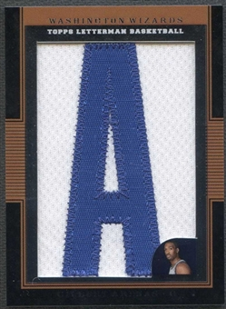 """2007/08 Topps Letterman Basketball Gilbert Arenas Letter """"A"""" Patch #9/9"""