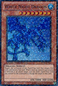 Yu-Gi-Oh Duel Terminal 4 Single White Night Dragon Super Rare