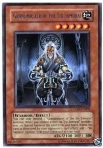 Yu-Gi-Oh Turbo Pack 1 Single Grandmaster of the Six Samurai Rare TU01