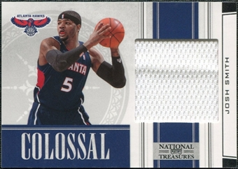 2009/10 Panini Playoff National Treasures Colossal Materials #45 Josh Smith /99