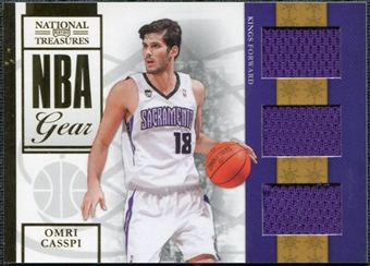 2009/10 Panini Playoff National Treasures NBA Gear Trios #19 Omri Casspi /25