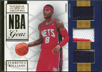 2009/10 Playoff National Treasures NBA Gear Trios Prime #17 Terrence Williams /49