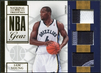 2009/10 Panini Playoff National Treasures NBA Gear Trios Prime #31 Sam Young /49