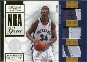 2009/10 Panini Playoff National Treasures NBA Gear Trios Prime #32 Hasheem Thabeet /49