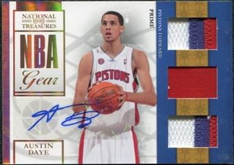 2009/10 Playoff National Treasures NBA Gear Trios Prime Signatures #22 Austin Daye /49