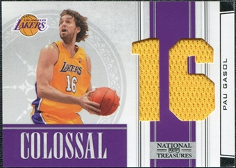 2009/10 Panini Playoff National Treasures Colossal Materials Jersey Numbers #43 Pau Gasol /25