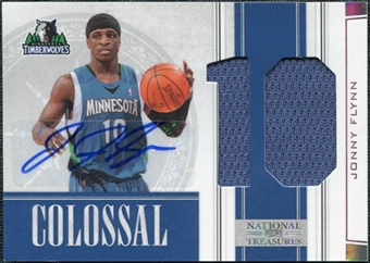 2009/10 Panini Playoff National Treasures Colossal Materials Jersey Numbers Signatures #8 Jonny Flynn /49