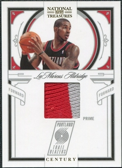2009/10 Panini Playoff National Treasures Century Materials Prime #50 LaMarcus Aldridge /25