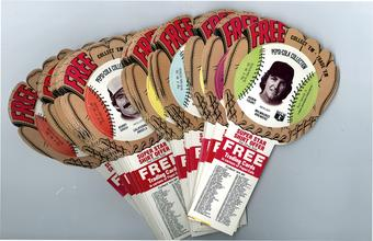 1977 Pepsi Baseball Glove Disc Complete Set (NM)