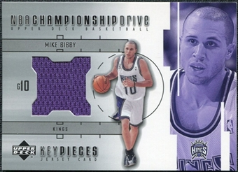 2002/03 Upper Deck Championship Drive Key Pieces Jersey #MBKP Mike Bibby
