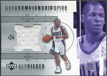 2002/03 Upper Deck Championship Drive Key Pieces Jersey #RAKP Ray Allen