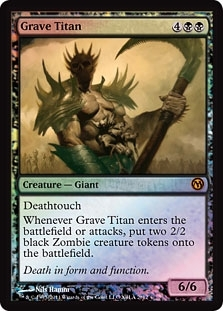 Magic the Gathering Promo Single Grave Titan Foil (Duels of the Planeswalkers 2012)