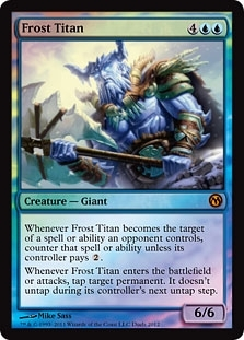 Magic the Gathering Promo Single Frost Titan Foil (Duels of the Planeswalkers 2012)