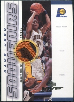 2000/01 Upper Deck MVP Game-Used Souvenirs #RMS Reggie Miller