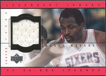 2000 Upper Deck Century Legends Legendary Jerseys #MMJ Moses Malone