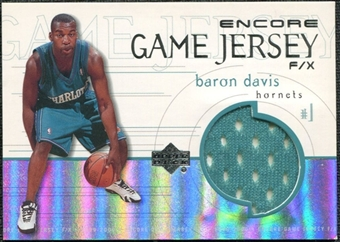 1999/00 Upper Deck Encore Game Jerseys #BDJ Baron Davis