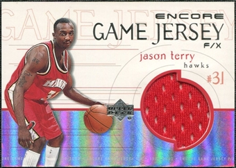 1999/00 Upper Deck Encore Game Jerseys #JTJ Jason Terry