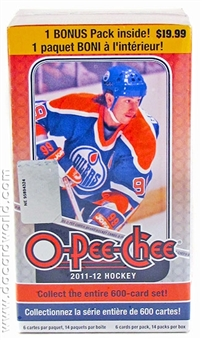 2011/12 Upper Deck O-Pee-Chee Hockey 14-Pack Blaster 3-Box Lot