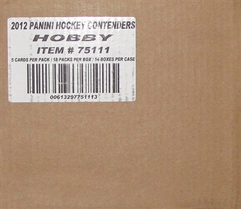 2011/12 Panini Contenders Hockey Hobby 14-Box Case