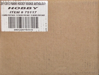 2011/12 Panini Rookie Anthology Hockey 12- Box Case - DACW Live 28 Spot Random Break