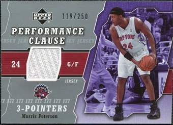 2005/06 Upper Deck Performance Clause Jerseys #MP Morris Peterson /250