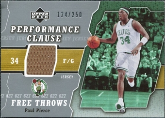 2005/06 Upper Deck Performance Clause Jerseys #PP Paul Pierce /250
