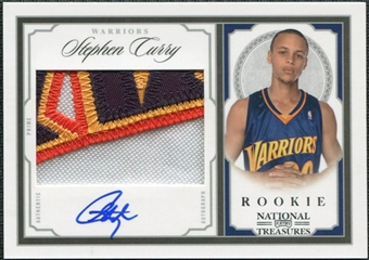 2009/10 Playoff National Treasures #206 Stephen Curry Rookie Autograph Patch 19/99