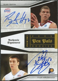 2009/10 Panini Playoff National Treasures Pen Pals #9 Blake Griffin Tyler Hansbrough Autograph 5/50