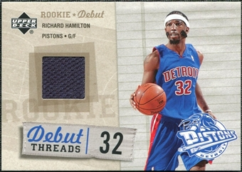 2005/06 Upper Deck Rookie Debut Threads #RH Richard Hamilton