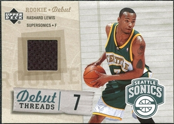 2005/06 Upper Deck Rookie Debut Threads #RL Rashard Lewis