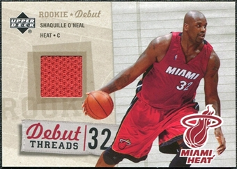 2005/06 Upper Deck Rookie Debut Threads #SO Shaquille O'Neal