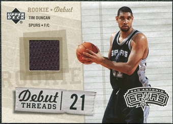 2005/06 Upper Deck Rookie Debut Threads #TD Tim Duncan