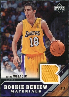 2005/06 Upper Deck Rookie Review Materials #SV Sasha Vujacic