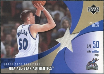 2002/03 Upper Deck All-Star Authentics Jerseys #MMAJ Mike Miller /83